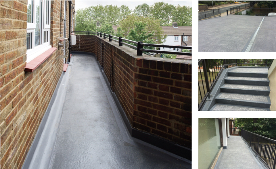 waterproofing balconies and walkways surface protection On balcony upstand