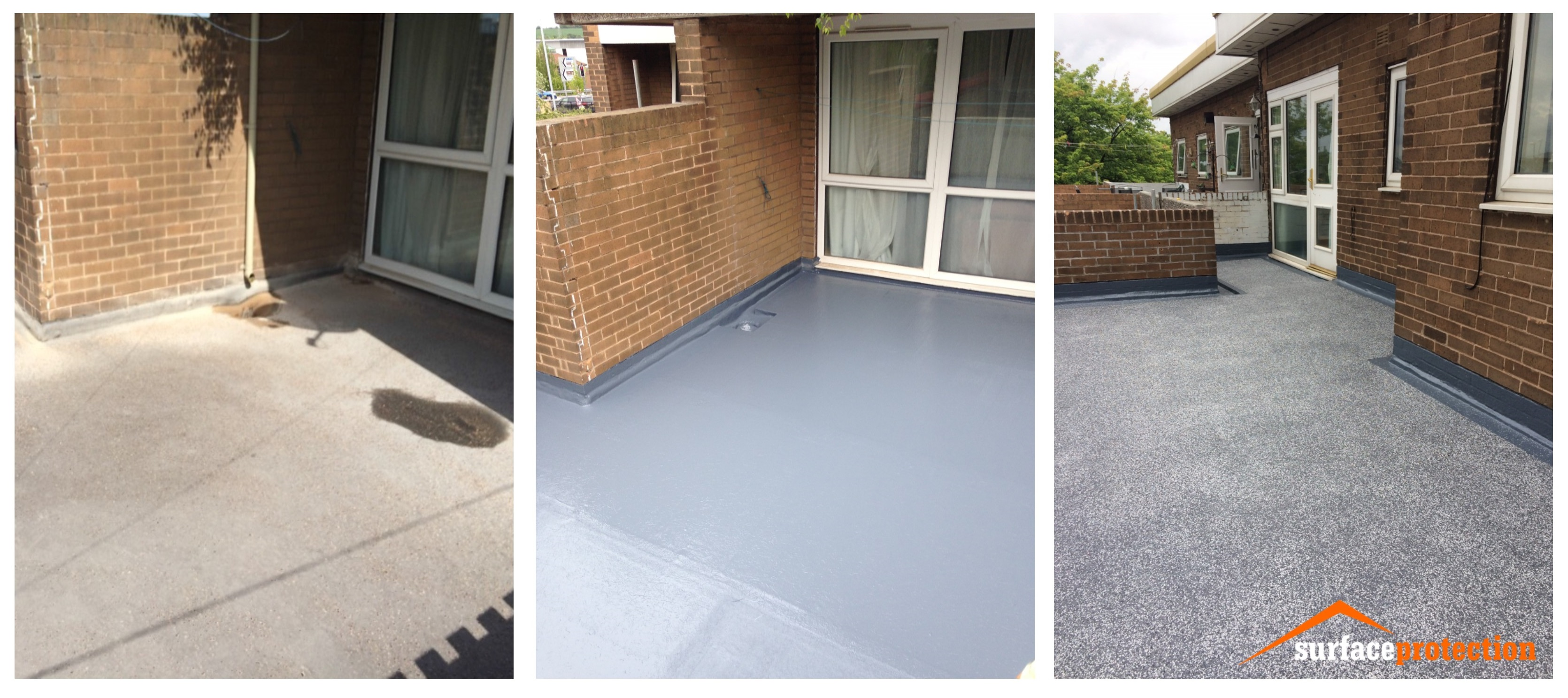 Waterproofing Of Asphalt Balconies In Rotherham Surface